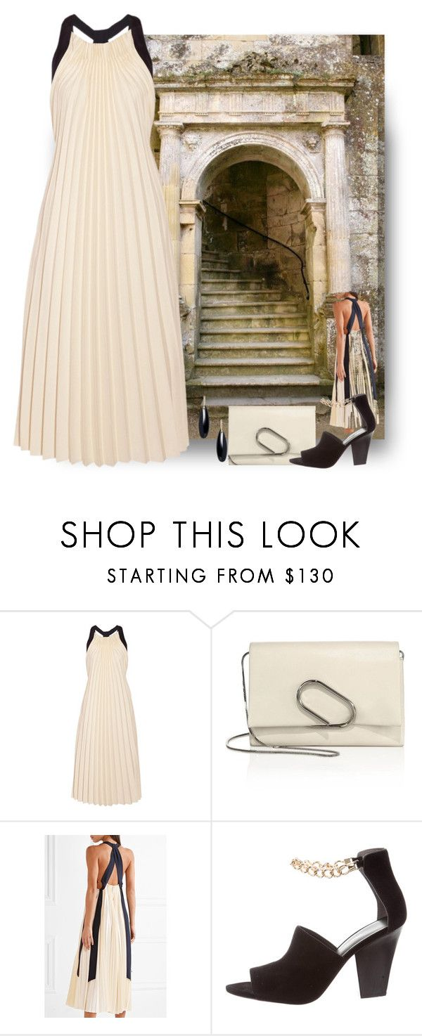 """""""Pleats"""" by easy-dressing ❤ liked on Polyvore featuring 3.1 Phillip Lim, Janis Savitt, WhatToWear, pleats and polyvoreeditorial"""