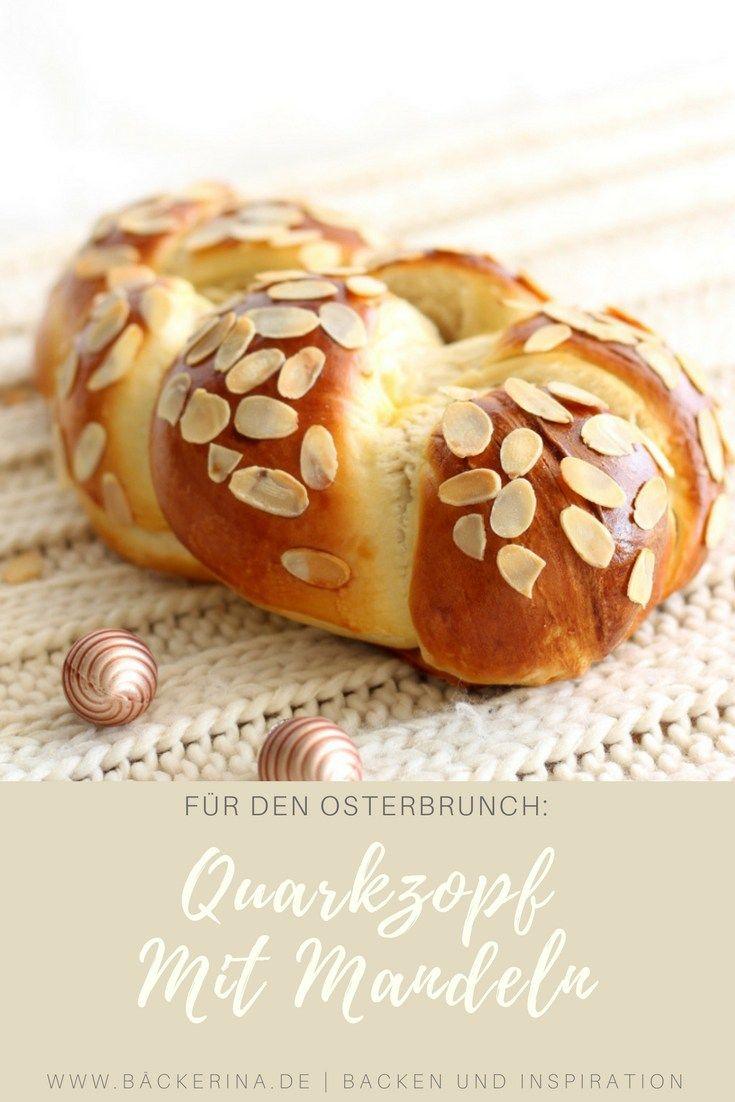 Weiter geht's mit Ostern: Fluffiger Quarkzopf mit Mandeln | Bäckerina