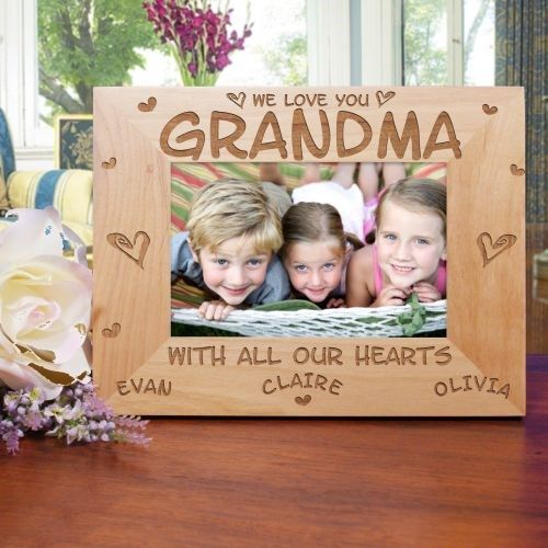 All Our Hearts Personalized Wood Picture Frame   EXPIRED-$15 & Under ...