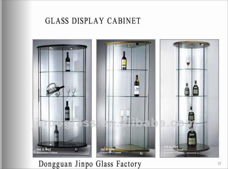 round glass display cabinet