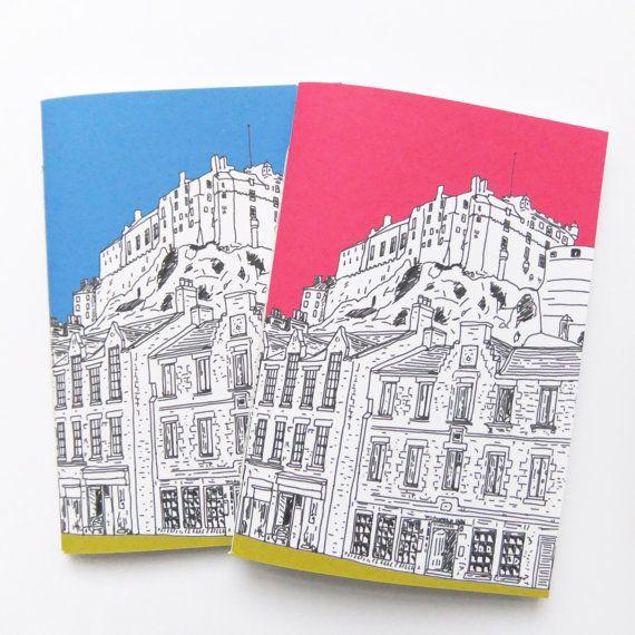 Edinburgh Journal , Scottish Travel Journal, Edinburgh Castle - blank paper background