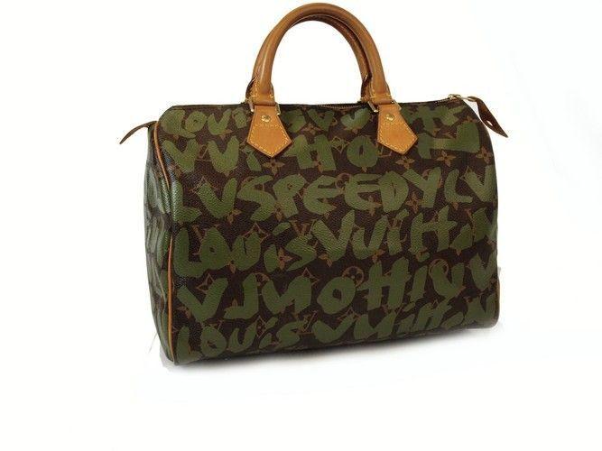 Louis Vuitton Graffiti Sdy 30 Handbag Authentic Pre Owned