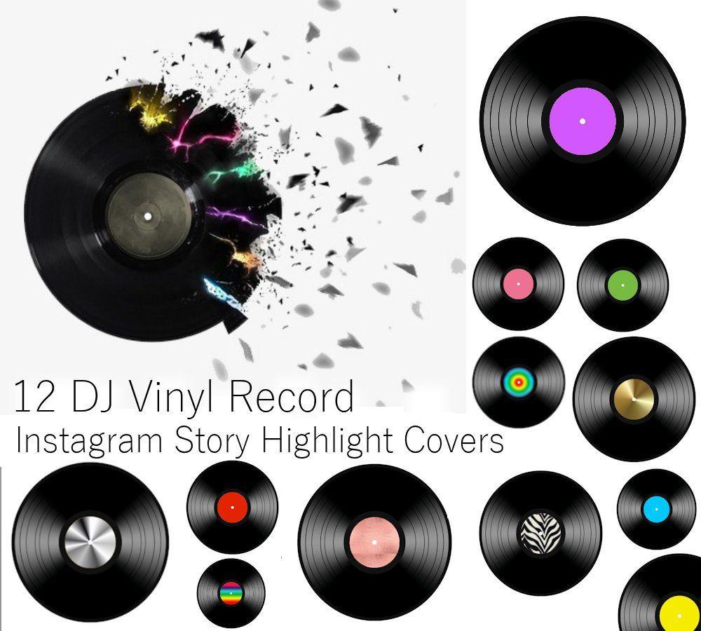 12 Dj Vinyl Record Instagram Highlight Covers Icons Music