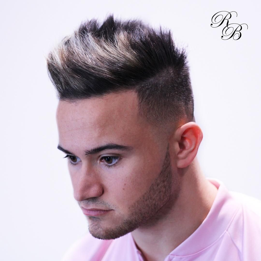 Low Skin Fade Disconnected Texture On Top Mens Color