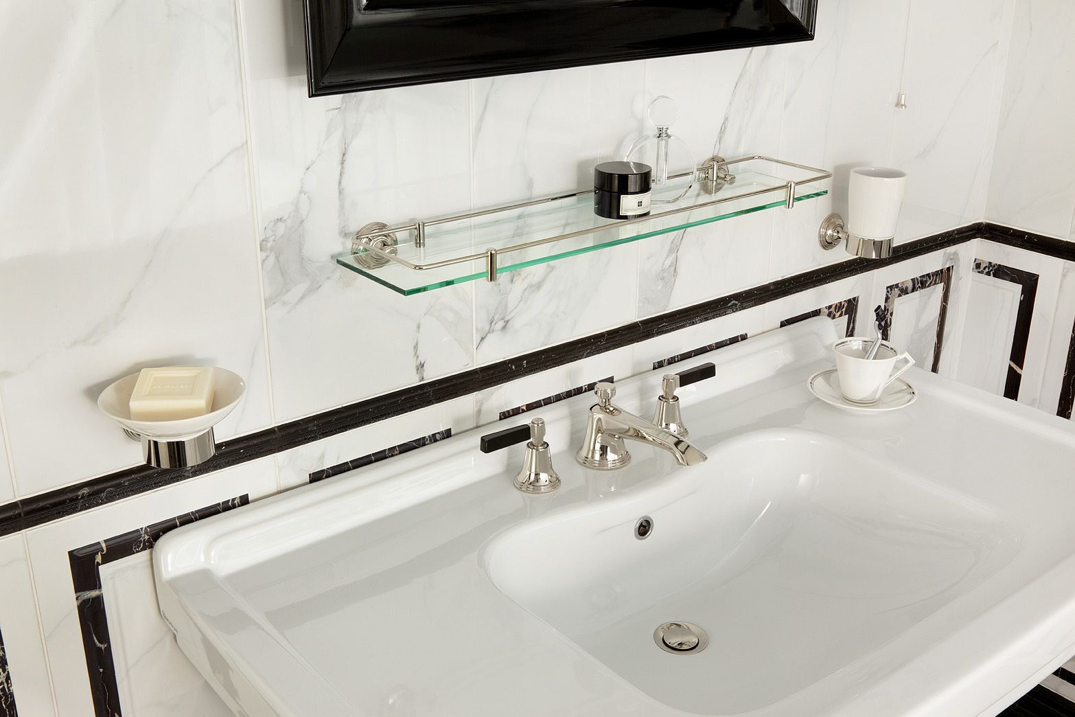 Love The Wide Surface Sink Top! Style Moderne   Art Deco Bathroom