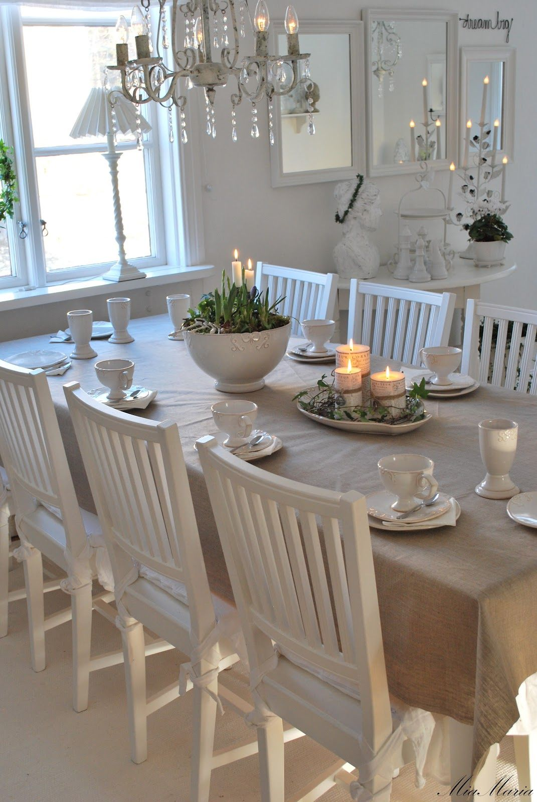 dining room white grey black chippy shabby chic whitewashed cottage french country. Black Bedroom Furniture Sets. Home Design Ideas