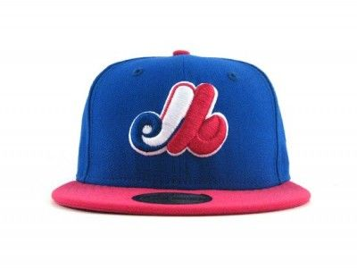 Montreal Expos 59FIFTY New Era Fitted Hat (BLUE AZURE BRIGHT ROSE ... 51128e8b26b