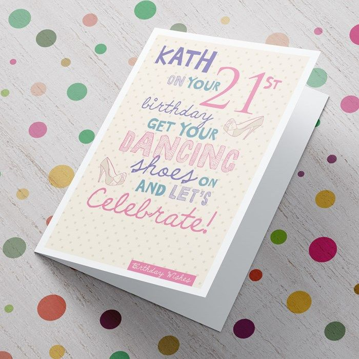 Personalised Card 21st Birthday Lets Celebrate Gettingpersonal