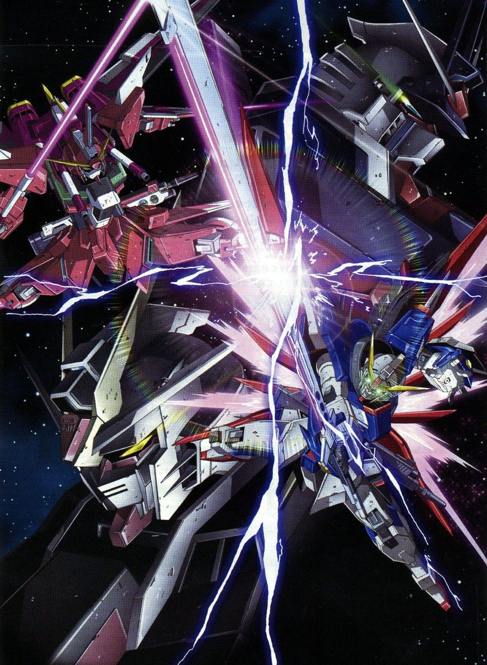 Infinite Justice Gundam Vs Destiny Gundam Gundam Seed Gundam