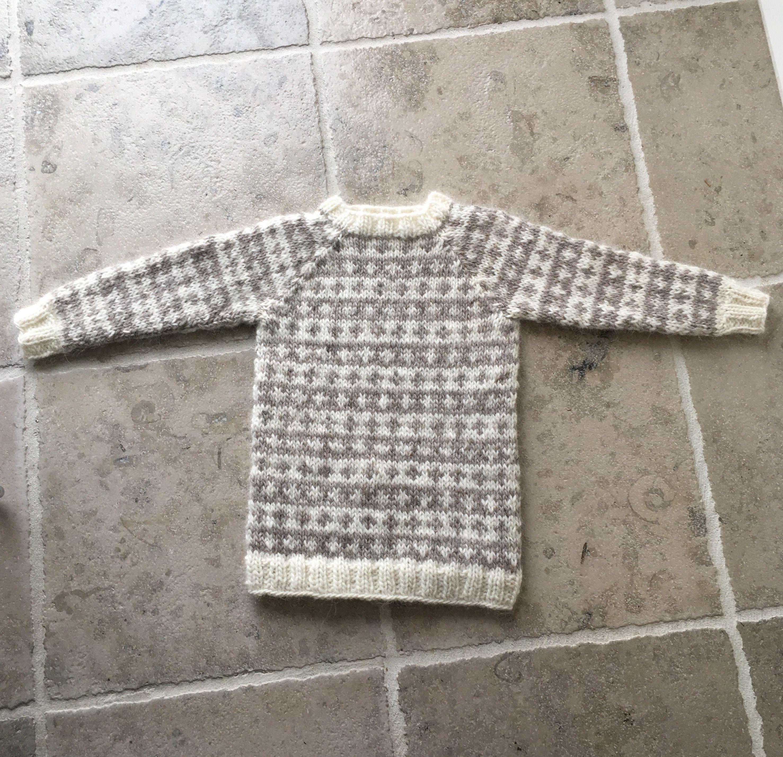 Sweater islandsk uld