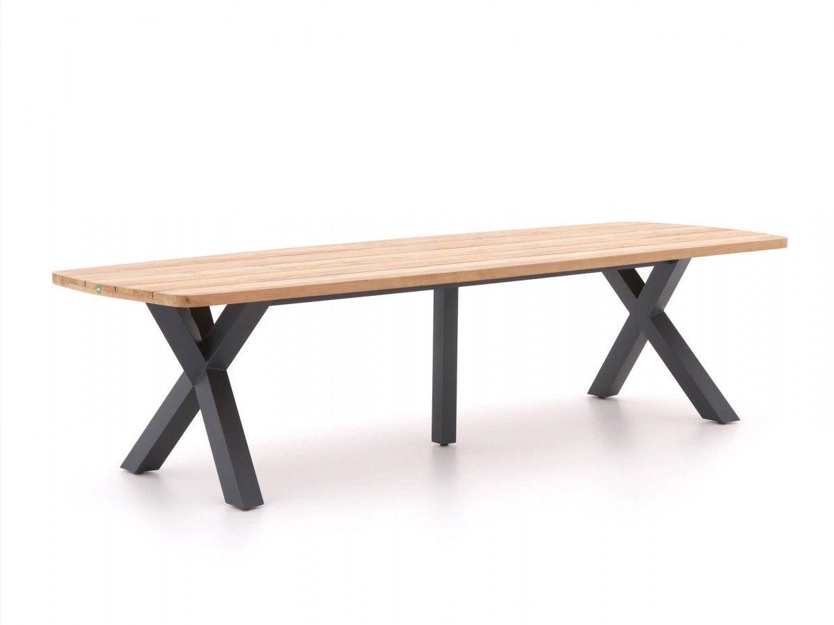 Esstisch Mit Tischplatte Aus Teakholz Und Gestell Aus Aluminium