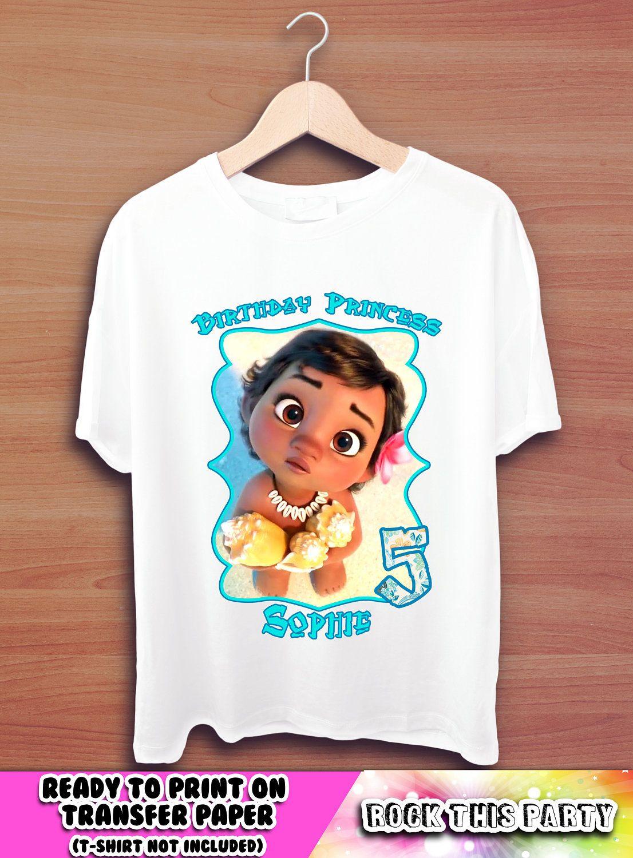 Moana personalized t shirtgraphic teesbirthday girl