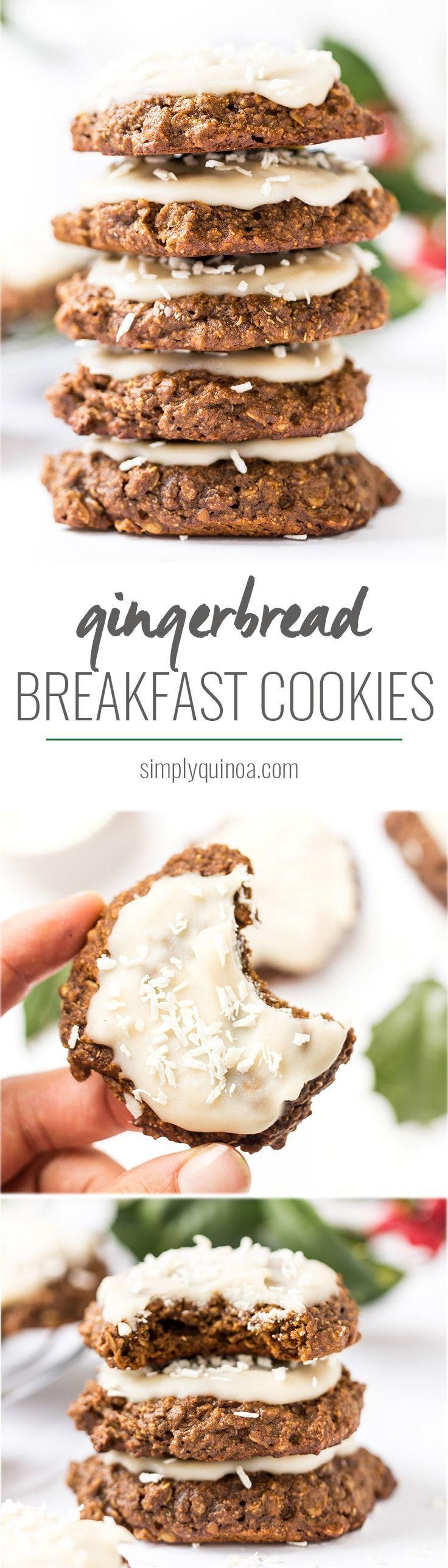 Gingerbread Quinoa Breakfast Cookies Recipe Clean