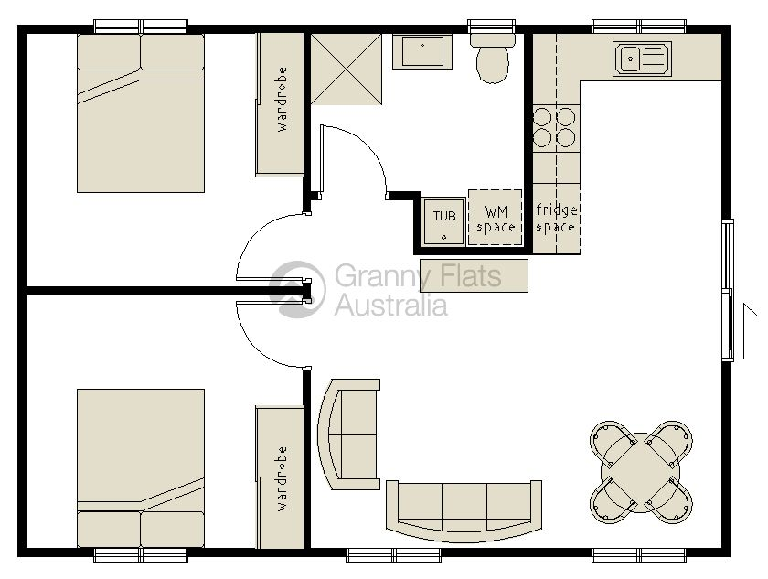 Converting a double garage into a granny flat google for Floor plans granny flats