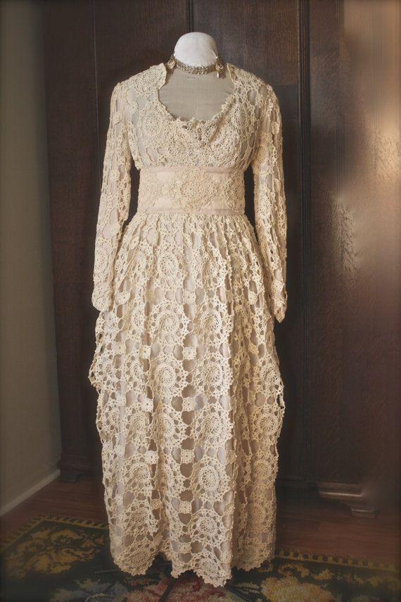 вах винтаж винтаж Crochet Wedding Dresses Crochet Wedding