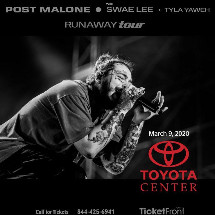 Post Malone At Toyota Center Post Malone Post Malone