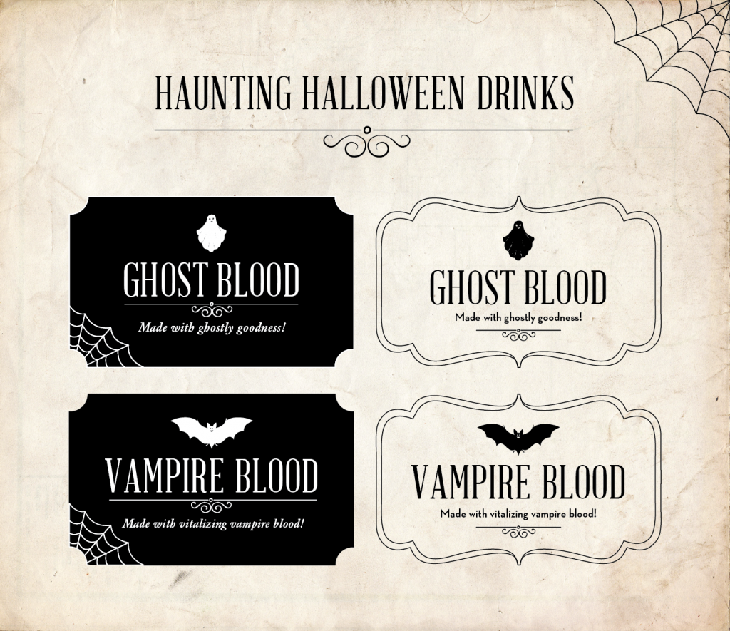 Essentia-Haunting-Halloween-Drinks DIY tags for the drinks
