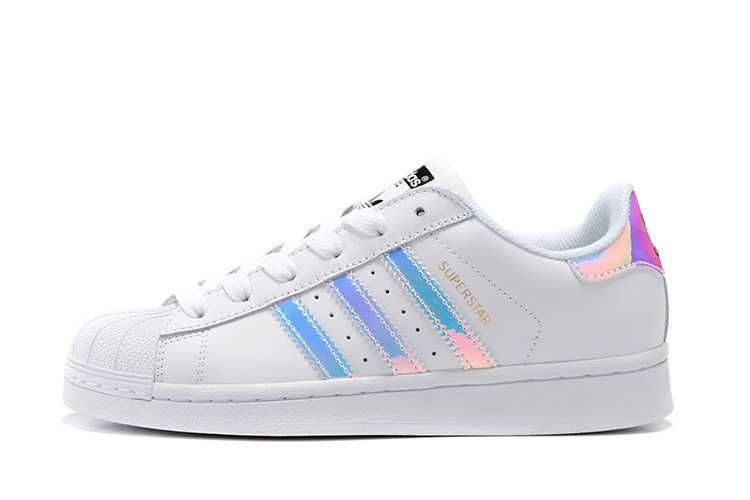 best loved 07478 7bcfe Adidas Superstar Junior Classic White Hologram Iridescent holographic  women men metallic