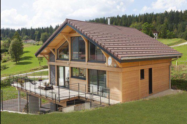 myotte duquet architecture bois douglas et pierre dans le haut jura maisons pinterest. Black Bedroom Furniture Sets. Home Design Ideas