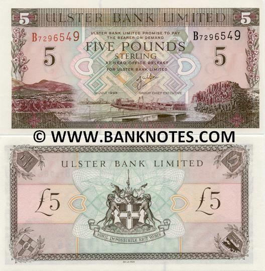 Ireland Currency Ireland 5 Pounds 1998 Irish Currency Bank