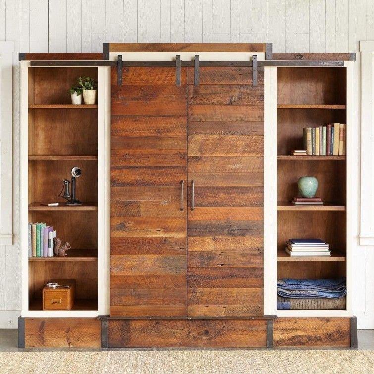 Mueble estanter a multifuncional con puertas corredizas - Muebles con puertas corredizas ...