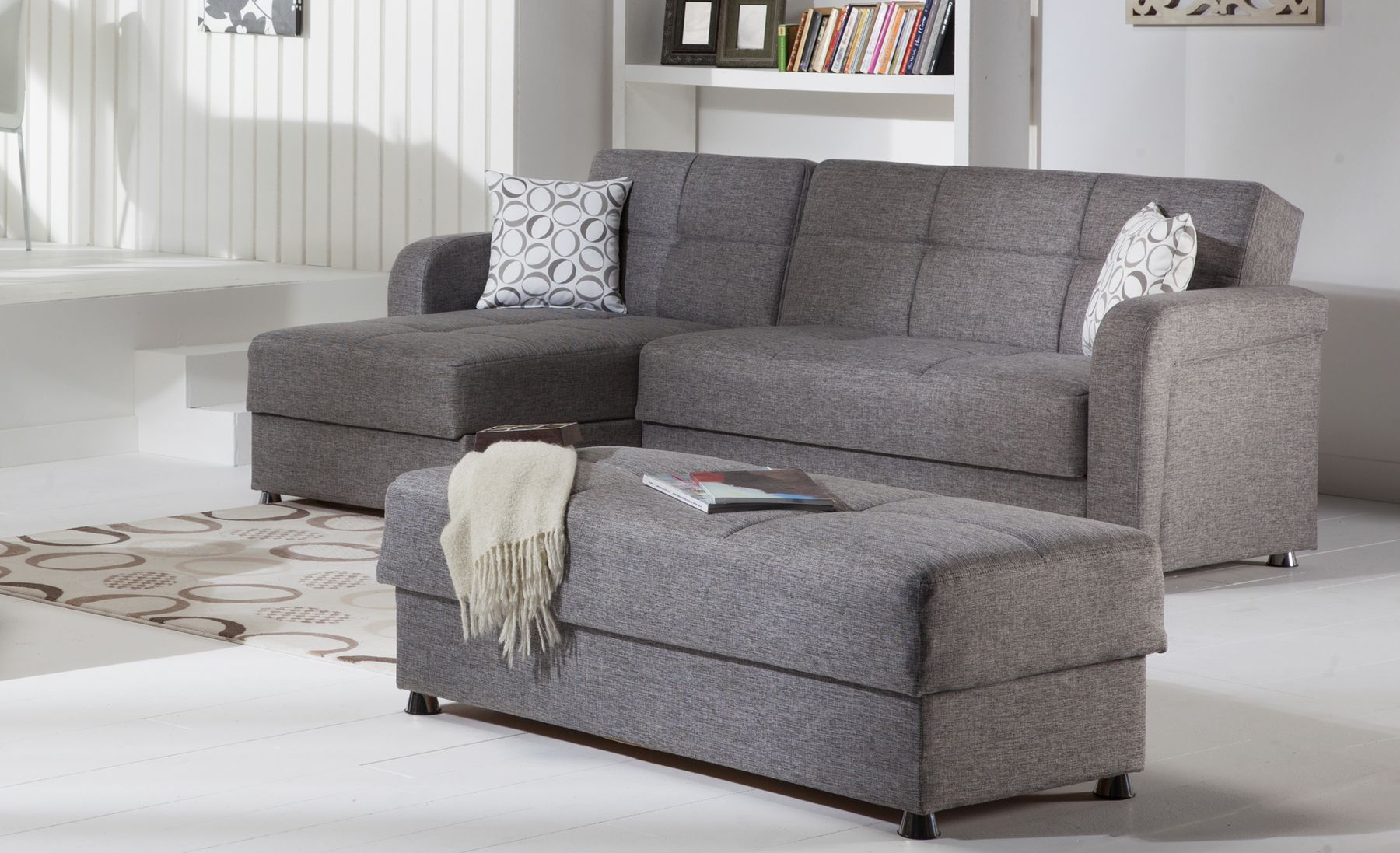 Vision Gray Sectional Sofa | Apartment thoughts... | Sectional ...