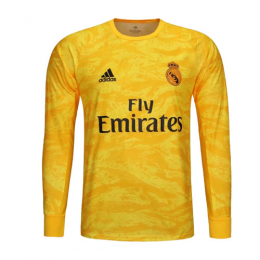 19 20 Real Madrid Goalkeeper Yellow Long Sleeve Jerseys Shirt Real Madrid Long Sleeve Jersey Shirt Jersey Shirt Long Sleeve Jersey