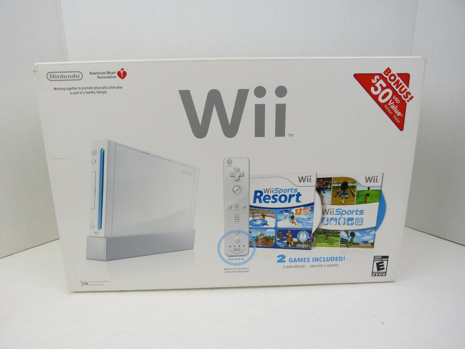 Nintendo Wii System Console In Box Wii Sports And Resorts Free