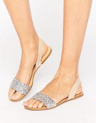 Кожаные сандалии с ремешком через пятку ASOS FARO