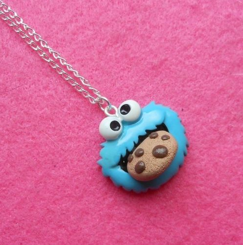 I found 'NeW! ♥ COOKIE MONSTER CHOC CHIP NECKLACE ♥ KiTScH KaWaii CuTe ReTRo FiMo FuNKY!' on Wish, check it out!