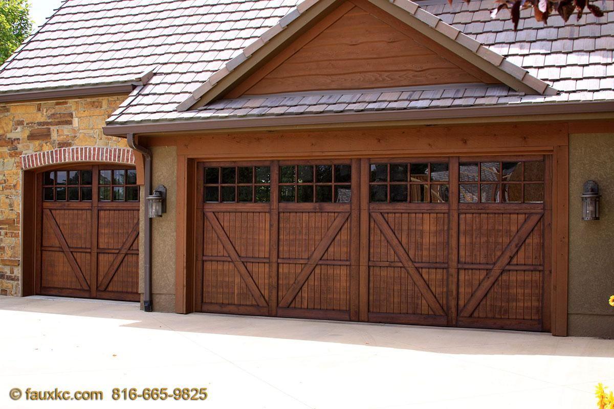 Garage Doors With Images Faux Wood Garage Door Garage Doors Metal Door