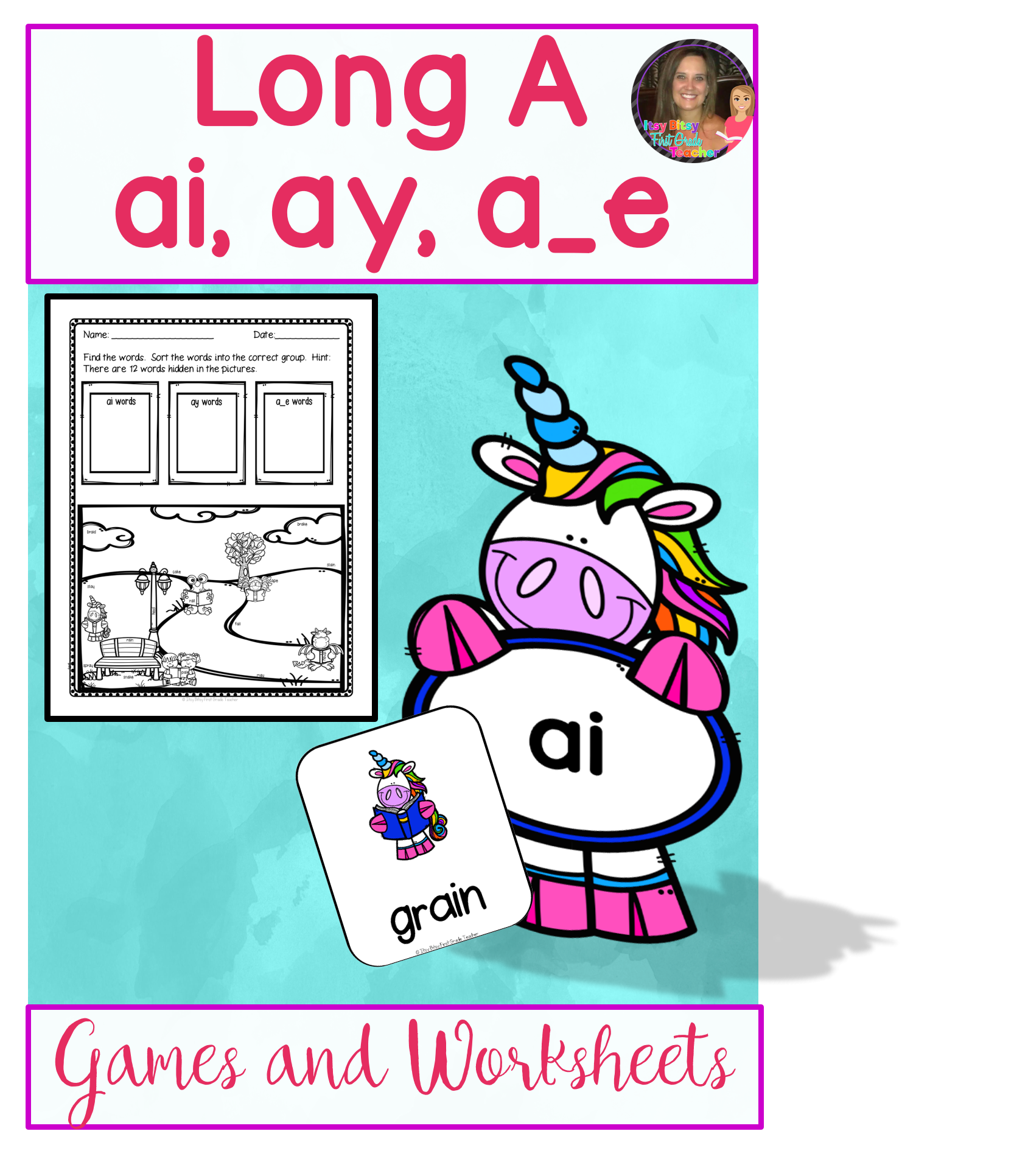 Long Vowel A Word Work Bundle Includes Ai Ay A E