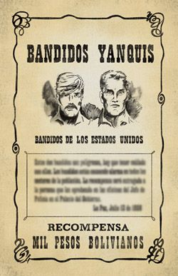 """Movie wanted poster re-creation. """"Butch Cassidy and the ..."""