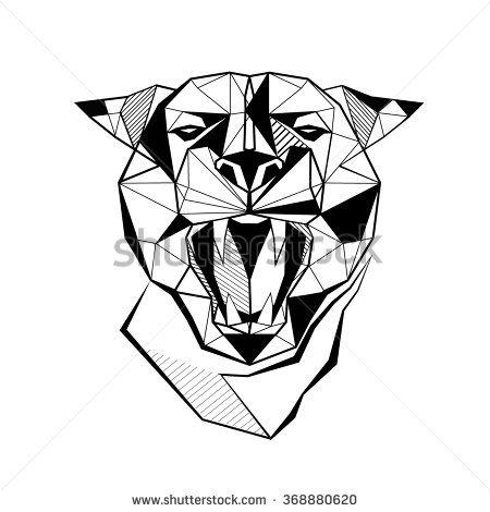 Panther Stylized Triangle Polygonal Model Tatuagem Pantera