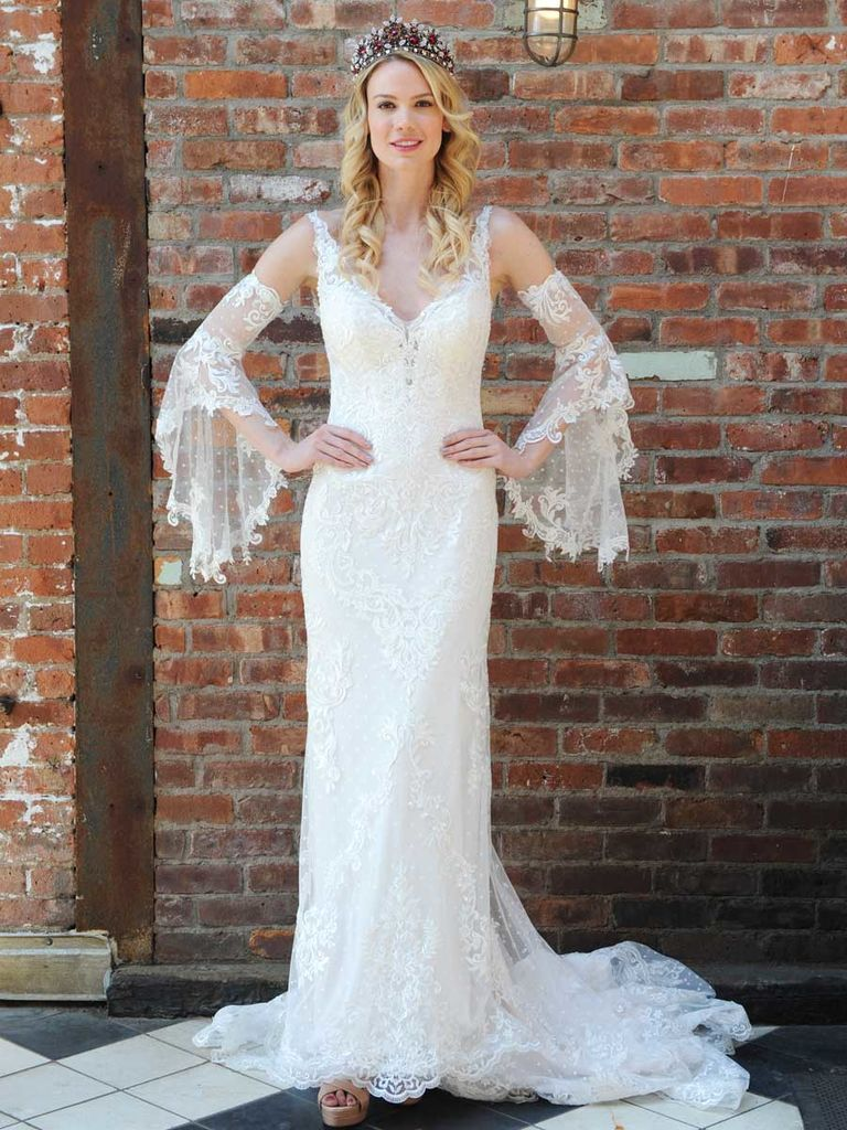 Beautiful boho dresses from bridal fashion week boho chic wedding