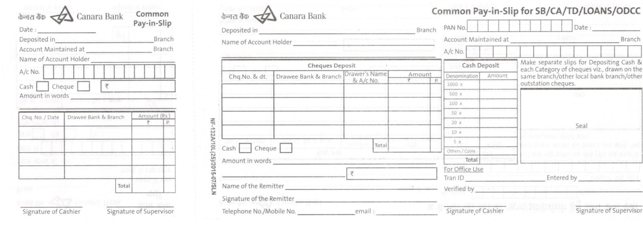 sbi cash deposit form download pdf  canara bank deposit slip | Sample resume, Pdf, Free