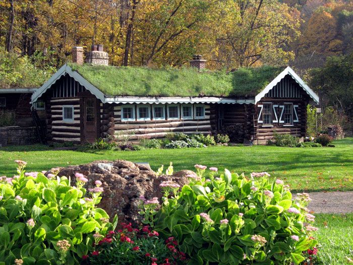 A Sod Roof Cabin Located In Little Norway A Norwegian