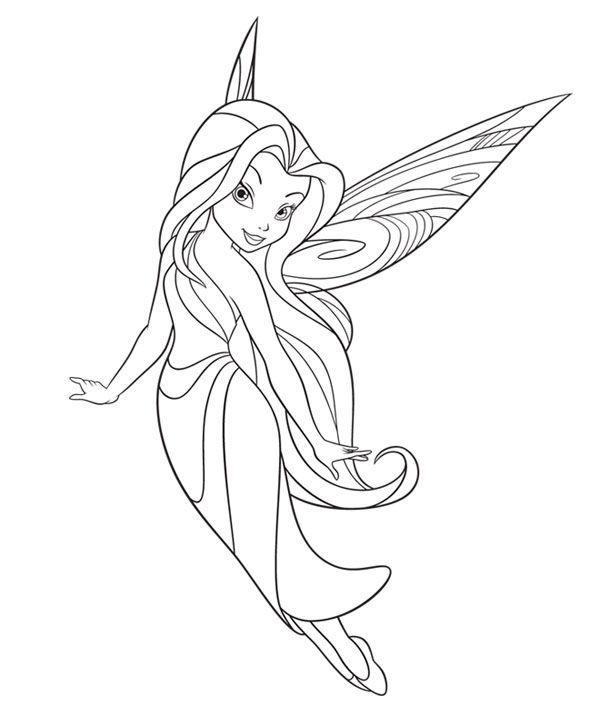 Disney Fairies Coloring Pages Printable Free Disney Fairies