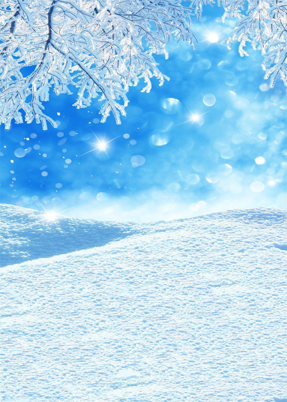 5 x 7ft 150x210cm kate invierno photography azul cielo for Blanco nieve