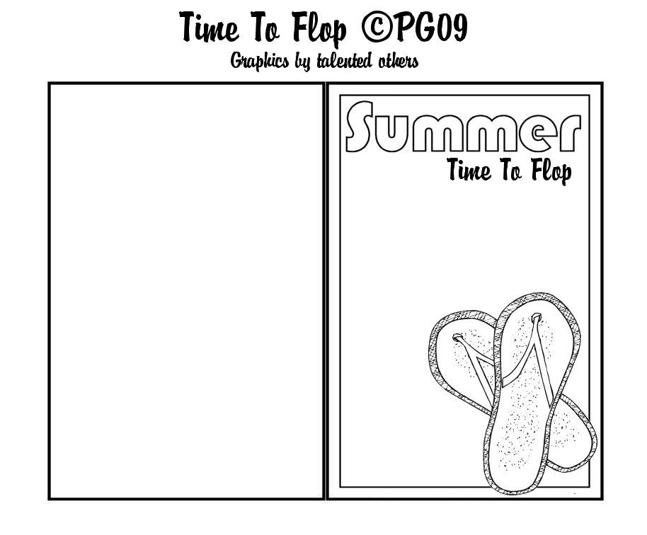 Flip Flop Card Template I Made Flip Flop Cards Card Template Cards
