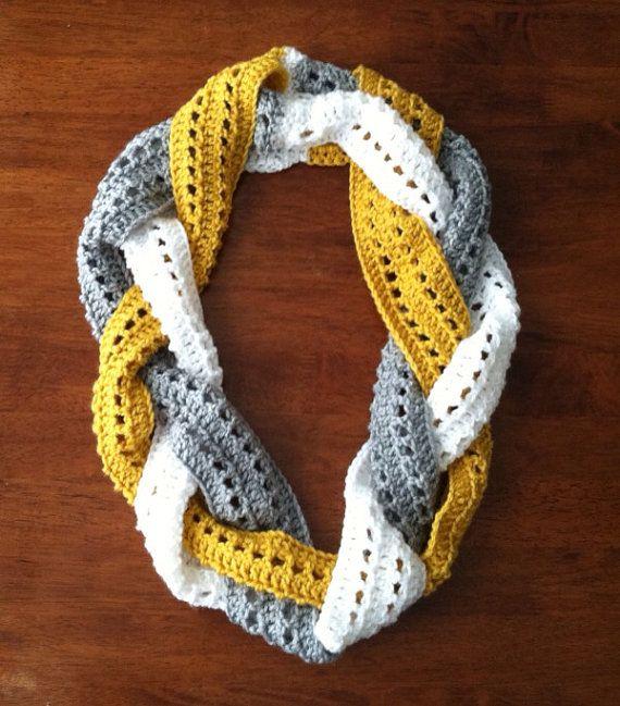 Braided Infinity Scarf/Cowl by LizbethsDesigns on Etsy, $25.00