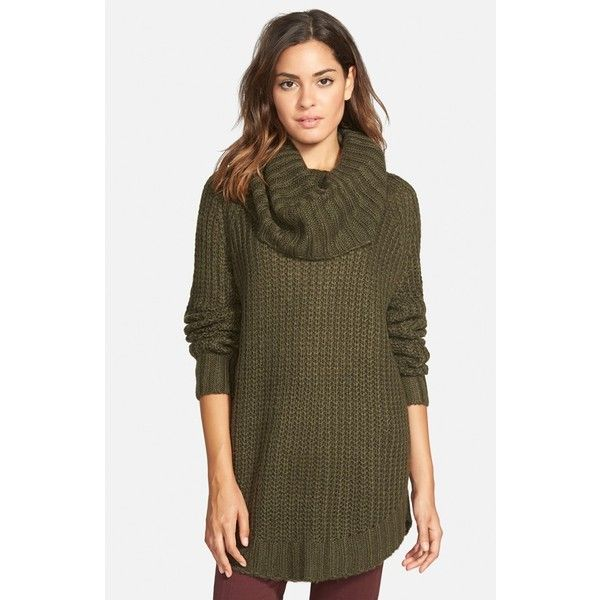 Junior Dreamers by Debut Cowl Neck Sweater ($44) ❤ liked on ...
