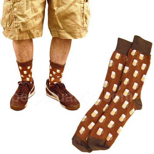 BEER SOCKS - MEN'S CREW $8.99