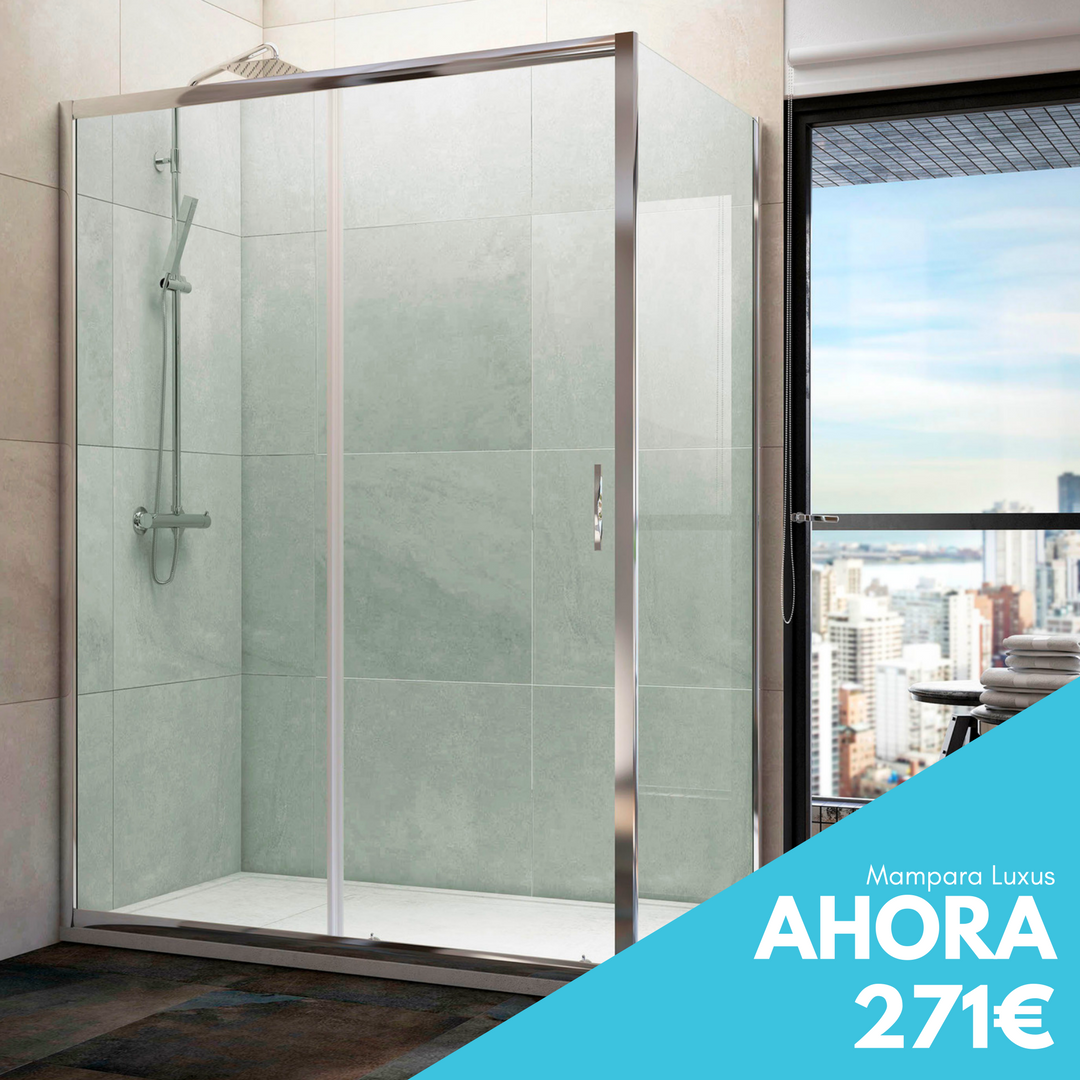 Ofertas Baños Mampara Ducha Rectangular Luxus Thermaconfort Mamparas