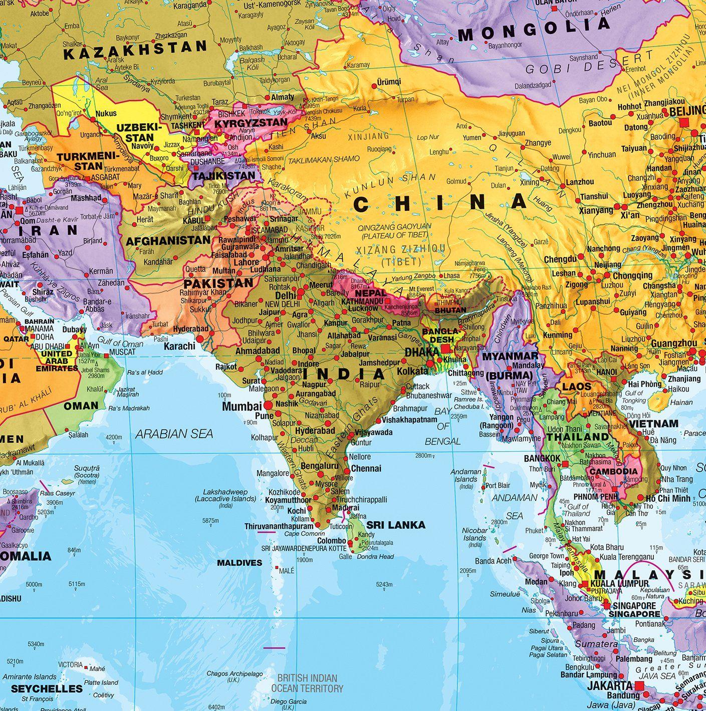 maps international giant world megamap large wall map 77 on laminated wall maps id=42177