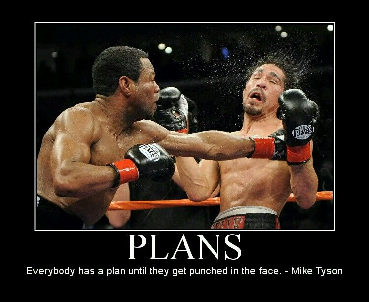"""""""Everybody has a plan until they get punched in the face ..."""
