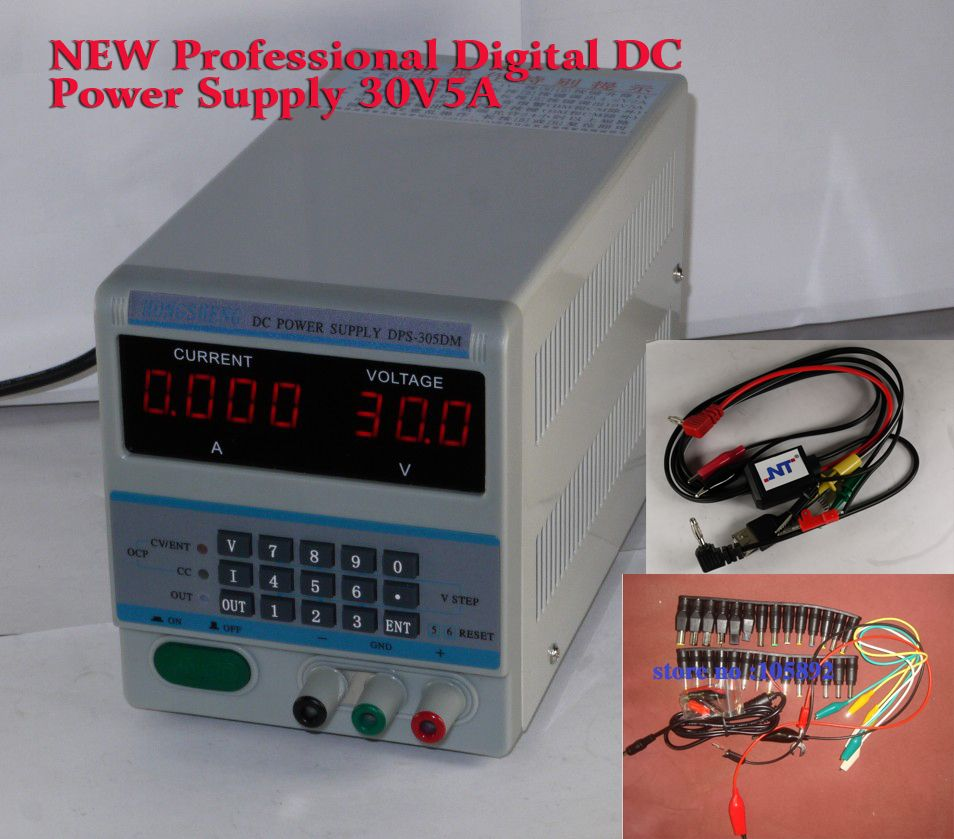New Professional Laptops And Smartphone 305dm 220v Repair Programmable Digital Dc Power Supply 30v5a 39pcs Dc Jack Cable Smartphone Repair