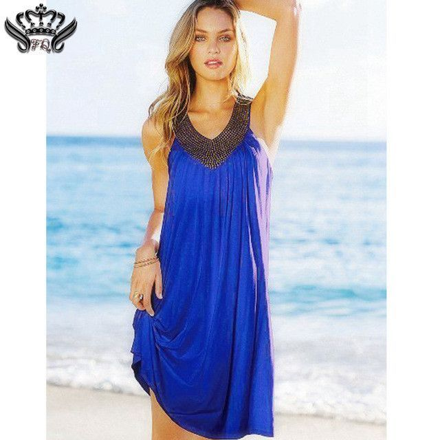 One Size Backless Beach Dress