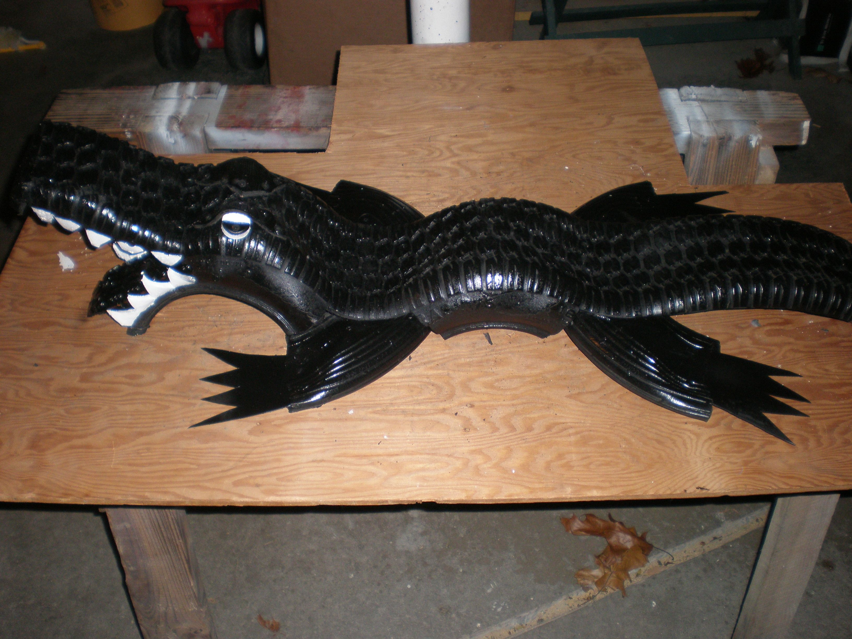 This is Tracs. The newest Baby Tire-Alligator to be produced out of TheDarkSpartan workshop.
