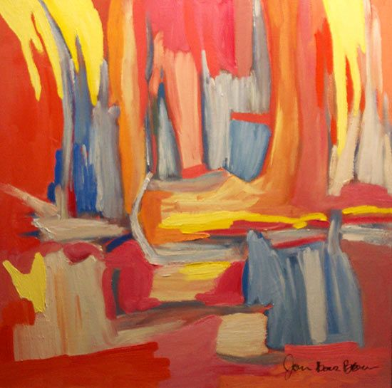 Morning Sunset Expressionist Abstract Oil Painting In